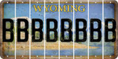Wyoming B Cut License Plate Strips (Set of 8) LPS-WY1-002