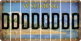 Wyoming D Cut License Plate Strips (Set of 8) LPS-WY1-004