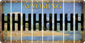 Wyoming H Cut License Plate Strips (Set of 8) LPS-WY1-008