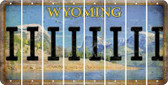 Wyoming I Cut License Plate Strips (Set of 8) LPS-WY1-009