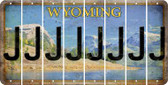 Wyoming J Cut License Plate Strips (Set of 8) LPS-WY1-010