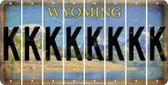 Wyoming K Cut License Plate Strips (Set of 8) LPS-WY1-011
