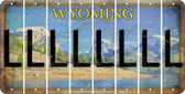 Wyoming L Cut License Plate Strips (Set of 8) LPS-WY1-012
