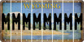 Wyoming M Cut License Plate Strips (Set of 8) LPS-WY1-013