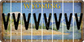 Wyoming V Cut License Plate Strips (Set of 8) LPS-WY1-022