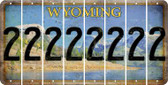 Wyoming 2 Cut License Plate Strips (Set of 8) LPS-WY1-029