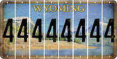 Wyoming 4 Cut License Plate Strips (Set of 8) LPS-WY1-031