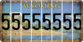 Wyoming 5 Cut License Plate Strips (Set of 8) LPS-WY1-032