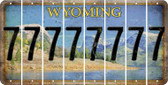 Wyoming 7 Cut License Plate Strips (Set of 8) LPS-WY1-034