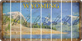 Wyoming BASEBALL WITH BAT Cut License Plate Strips (Set of 8) LPS-WY1-057