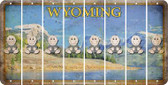 Wyoming BABY BOY Cut License Plate Strips (Set of 8) LPS-WY1-066
