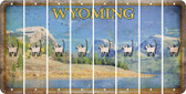 Wyoming CAT Cut License Plate Strips (Set of 8) LPS-WY1-072