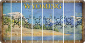 Wyoming SKULL Cut License Plate Strips (Set of 8) LPS-WY1-092