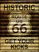Historic Route 66 Wholesale Novelty Parking Sign P-2306