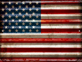 American Flag Wholesale Novelty Parking Sign P-2311