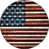 American Flag Wholesale Novelty Circular Sign C-894