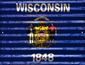 Wisconsin Flag Wholesale Novelty Parking Sign P-2363