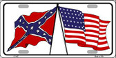 Confederate USA Crossed Flags Wholesale Metal Novelty License Plate
