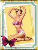 Photo Of Girl Vintage Pinup Wholesale Parking Sign P-1830