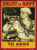 Enlist in the Navy Vintage Poster Wholesale Parking Sign P-1936