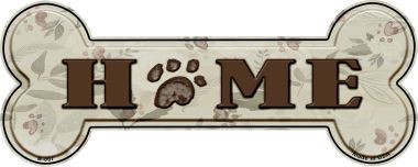 Home With Paw Print Wholesale Novelty Bone Magnet B-007