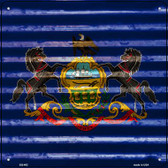 Pennsylvania Flag Corrugated Effect Wholesale Novelty Square Sign SQ-462