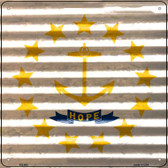 Rhode Island Flag Corrugated Effect Wholesale Novelty Square Sign SQ-463
