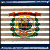 West Virginia Flag Corrugated Effect Wholesale Novelty Square Sign SQ-472