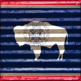 Wyoming Flag Corrugated Effect Wholesale Novelty Square Sign SQ-474