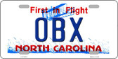 OBX North Carolina Wholesale Novelty License Plate LP-11819