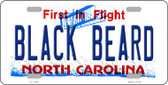 Black Beard North Carolina Wholesale Novelty License Plate LP-11829