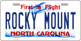 Rocky Mount North Carolina Wholesale Novelty License Plate LP-11849