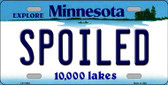 Spoiled Minnesota State Novelty Wholesale License Plate LP-11063