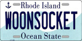 Woonsocket Rhode Island State License Plate Novelty Wholesale License Plate LP-11186