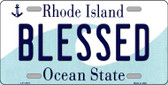 Blessed Rhode Island State License Plate Novelty Wholesale License Plate LP-11215