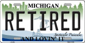 Retired Michigan State Wholesale Metal Novelty License Plate LP-4754
