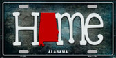 Alabama Home State Outline Wholesale Novelty License Plate LP-11992