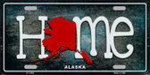 Alaska Home State Outline Wholesale Novelty License Plate LP-11993