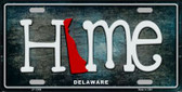 Delaware Home State Outline Wholesale Novelty License Plate LP-11999