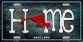 Maryland Home State Outline Wholesale Novelty License Plate LP-12011