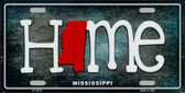Mississippi Home State Outline Wholesale Novelty License Plate LP-12015