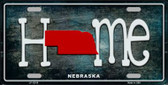 Nebraska Home State Outline Wholesale Novelty License Plate LP-12018