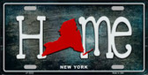 New York Home State Outline Wholesale Novelty License Plate LP-12023