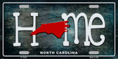 North Carolina Home State Outline Wholesale Novelty License Plate LP-12024