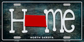 North Dakota Home State Outline Wholesale Novelty License Plate LP-12025