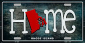 Rhode Island Home State Outline Wholesale Novelty License Plate LP-12030