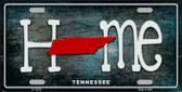Tennessee Home State Outline Wholesale Novelty License Plate LP-12033