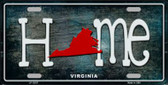 Virginia Home State Outline Wholesale Novelty License Plate LP-12037