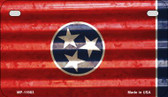 Tennessee Corrugated Flag Wholesale Novelty Motorcycle Plate MP-11983