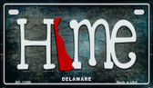 Delaware Home State Outline Wholesale Novelty Motorcycle Plate MP-11999